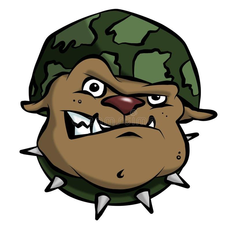 Dogo del ejército de la historieta stock de ilustración