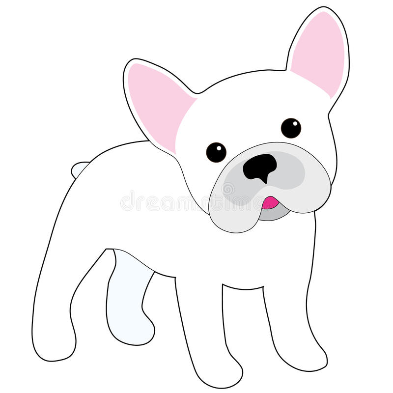 Dogo francés stock de ilustración