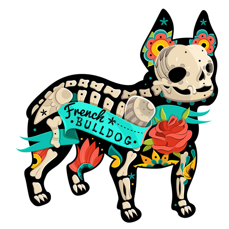 Dogo francés del vector ilustración del vector