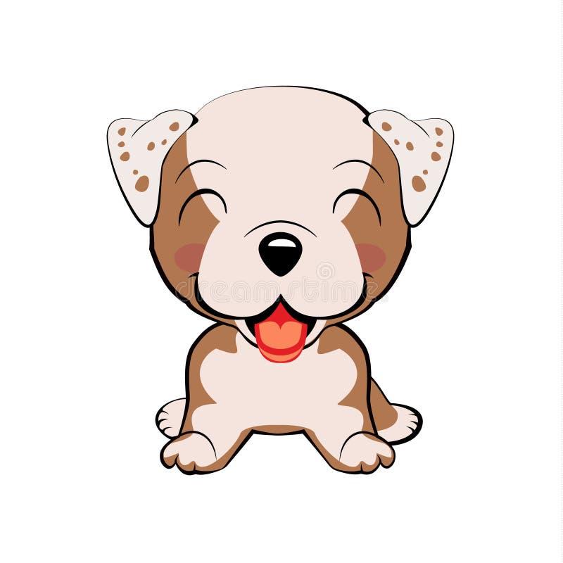 Dogo inglés Cabeza y cara coloridas aisladas del labrador retriever feliz en el fondo blanco Por plano del perro de la raza de la ilustración del vector