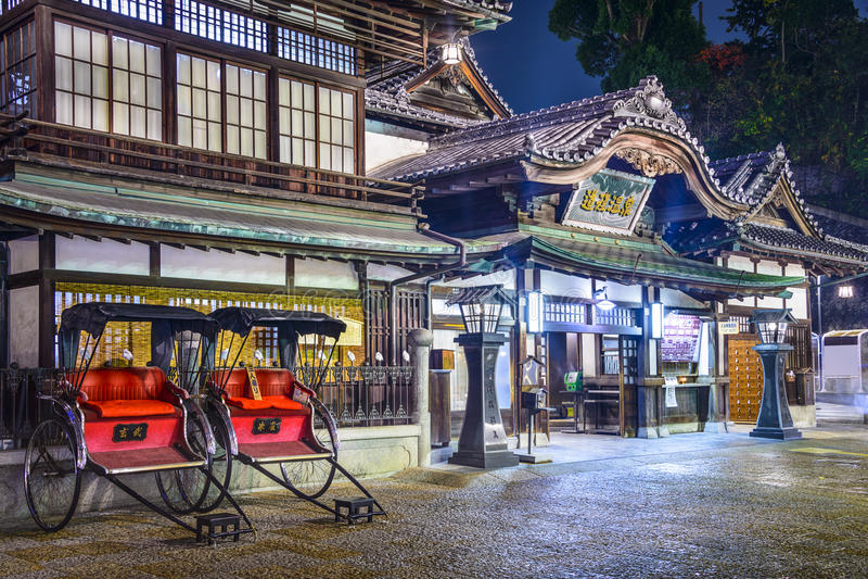 Dogo Onsen av Matsuyama, Japan arkivbild