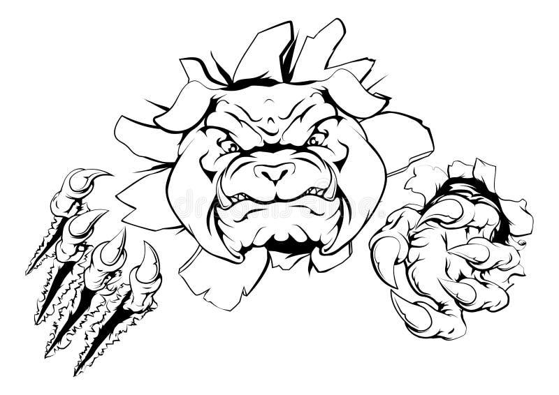 Dogo que rasga a través de fondo libre illustration