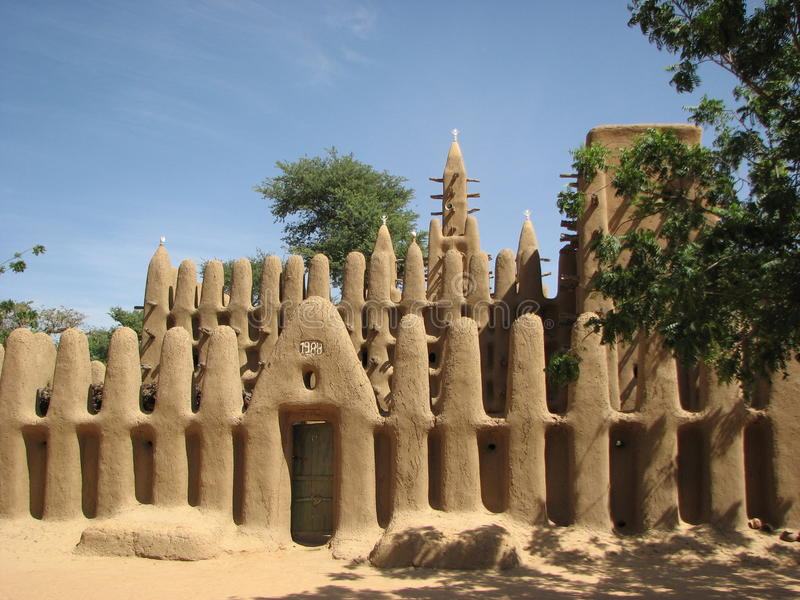 Dogon Mosque 3 royalty free stock photo