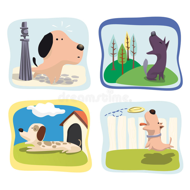 Dogs stock illustration