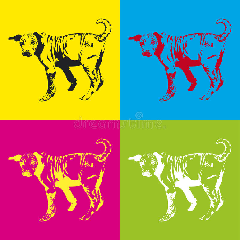 Download Dogs stock vector. Image of young, small, black, several - 20311104