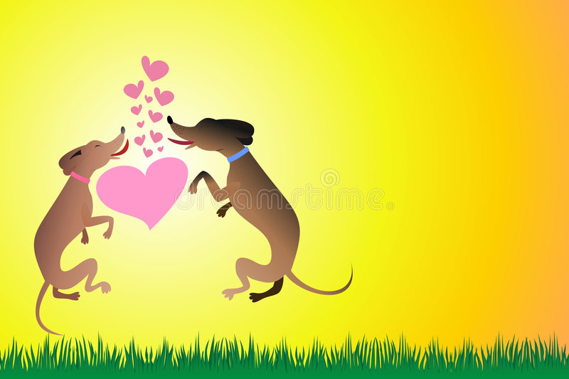 Download Dogs stock illustration. Image of happiness, pets, illustration - 4675728