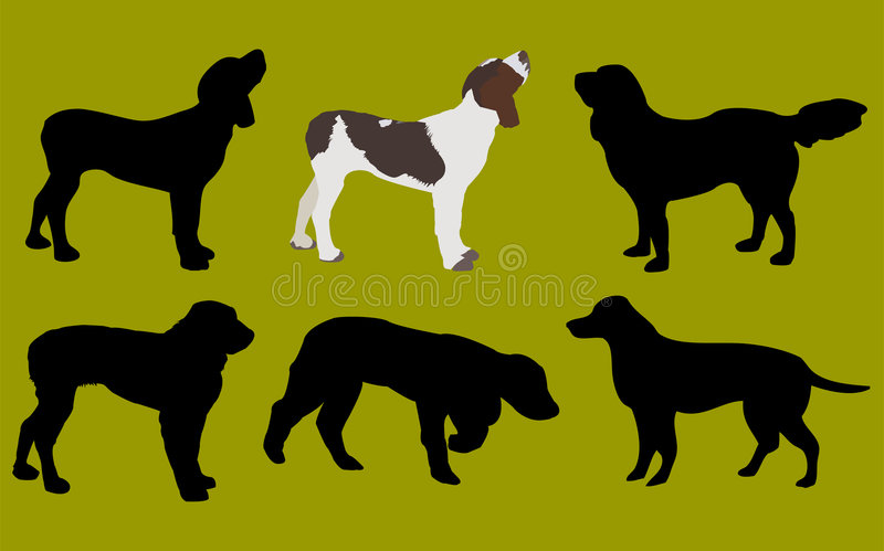 Download Dogs stock illustration. Image of shadows, look, silhouette - 506752