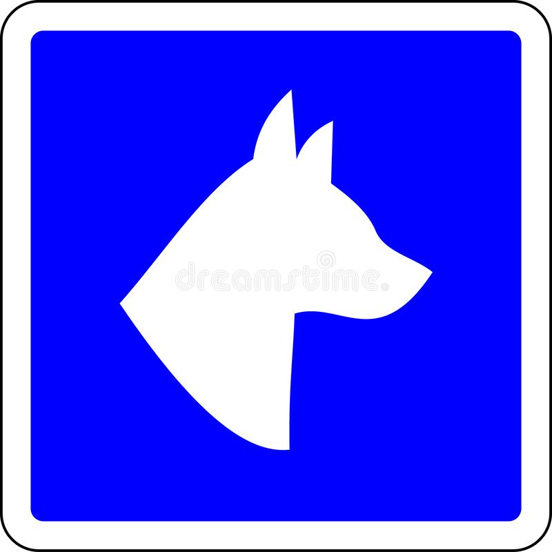 Dogs allowed sign. Dogs allowed blue sign royalty free illustration