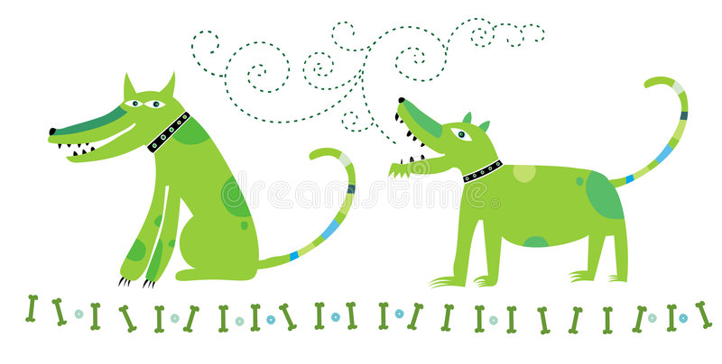 Download Dogs communication stock vector. Image of band, graphic - 3527403