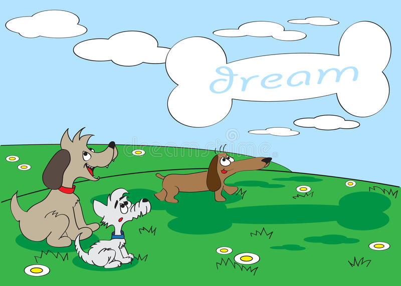 Dogs Dream Stock Photo
