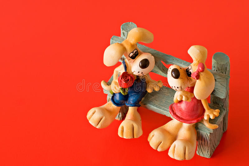 Download Dogs falling in love stock image. Image of isolated, sweet - 12712633
