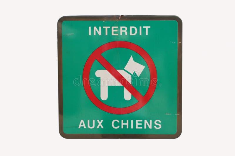 dogs fransman inget tecken arkivfoton