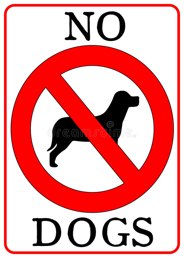 dogs inget tecken vektor illustrationer