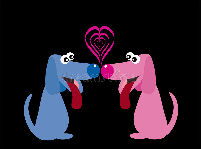 Download Dogs in love stock vector. Illustration of romance, cheerful - 12746802