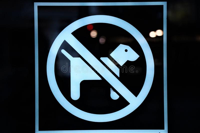 Dogs are not allowed inside. stock photo