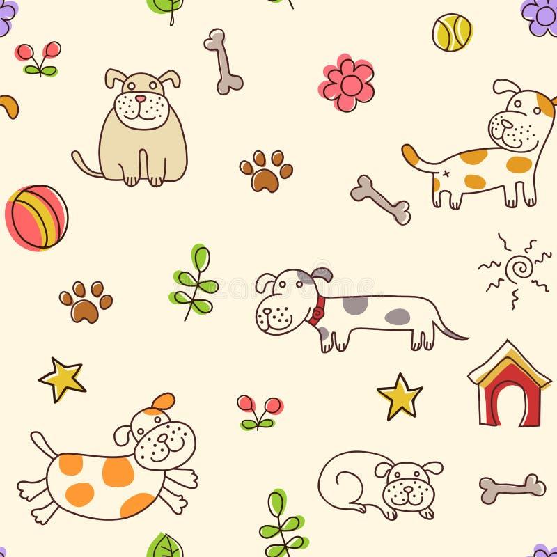 Dogs pattern royalty free illustration