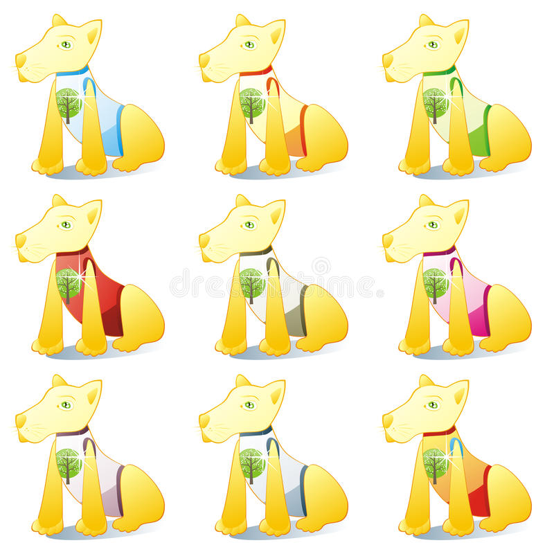 Download Dogs In Pet Clothing Set Royalty Free Stock Photography - Image: 14288487
