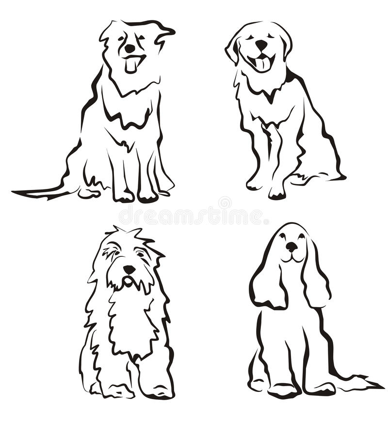 Free Dogs Set Of Silhouettes Stock Photos - 20457973