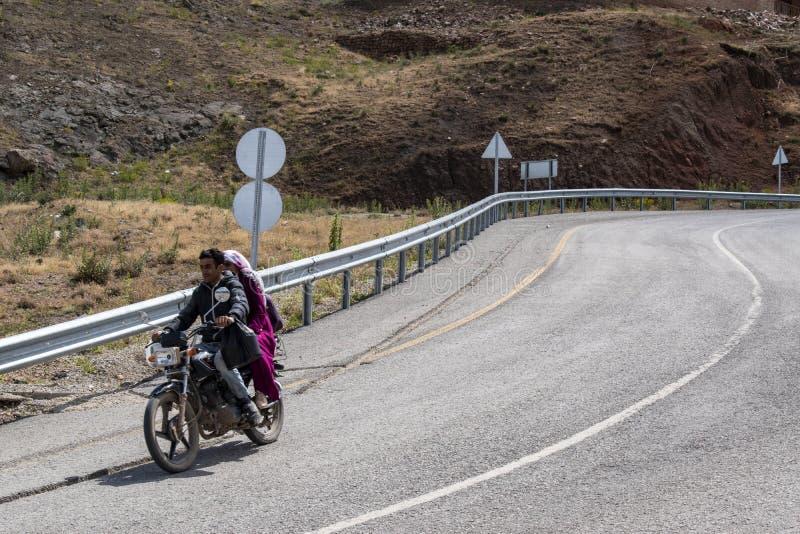 Dogubayazit, Turkey, Middle East, Kurdistan, Kurdish, family, landscape, rock, mountain, islam, marriage, motorbike. Dogubayazit, Turkey, Middle East: a Kurdish stock images