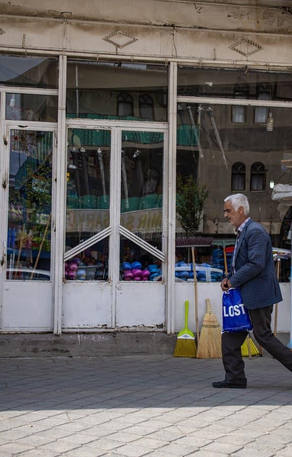 Dogubayazit, Turkey, Middle East, people, Kurdistan, Kurdish, daily life, street, town, city, urban, view, discovery. Dogubayazit, Turkey, Middle East: local man stock images