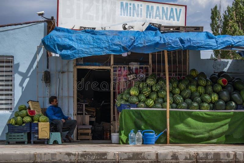 Dogubayazit, Turkey, Middle East, people, Kurdistan, Kurdish, daily life, street, town, city, urban, view, discovery. Dogubayazit, Turkey, Middle East: local man stock image