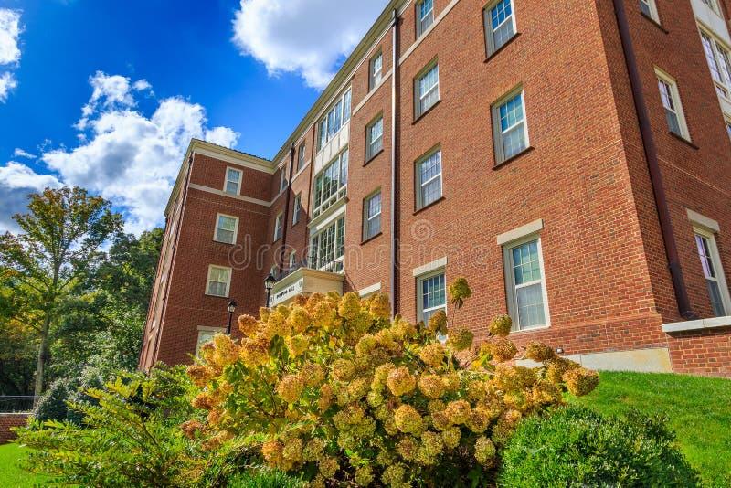 Dogwood Hall at Wake Forest University. WINSTON-SALEM, NC, USA: Dogwood Hall on October 26, 2019 at Wake Forest University in Winston-Salem, North Carolina stock images