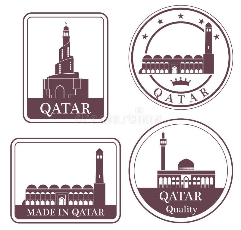 Doha astratto illustrazione di stock
