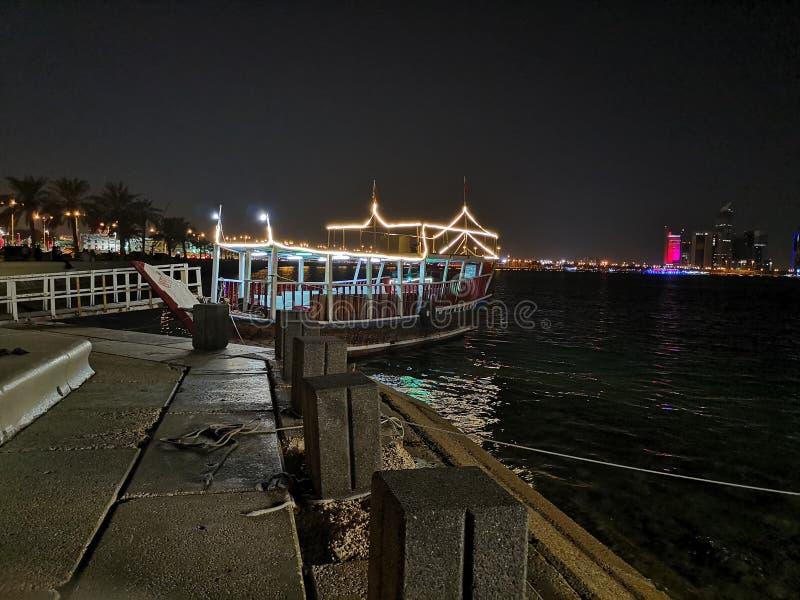 Doha corniche lizenzfreies stockbild