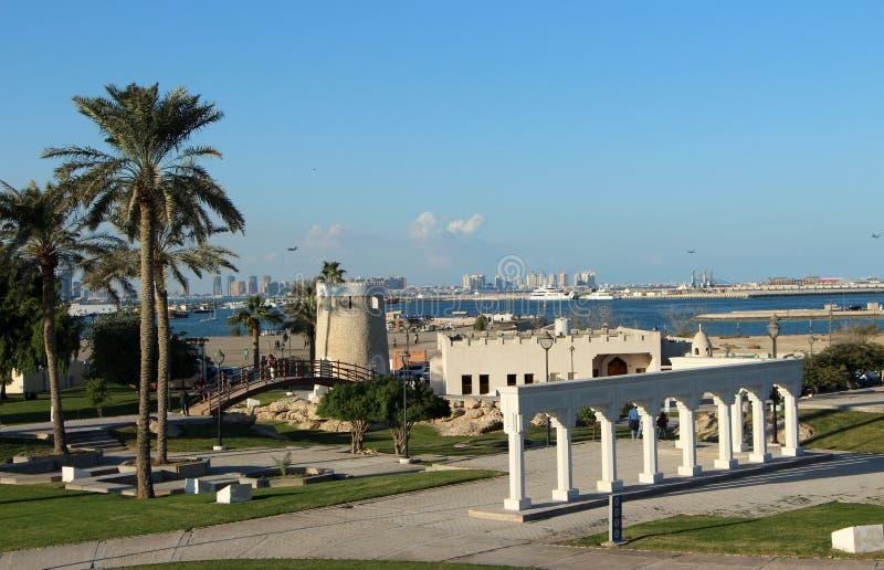 Doha Corniche Catar imagens de stock