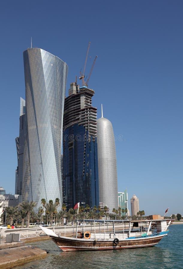 Doha de stad in, Qatar royalty-vrije stock fotografie