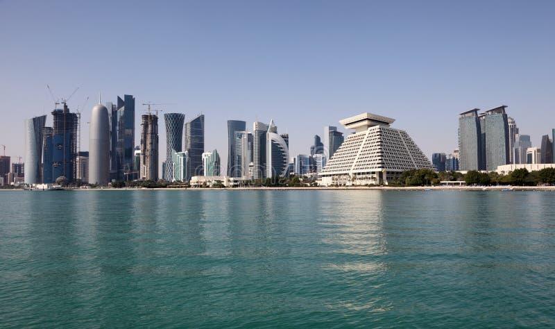 Download Doha downtown skyline stock photo. Image of doha, middle - 26501454
