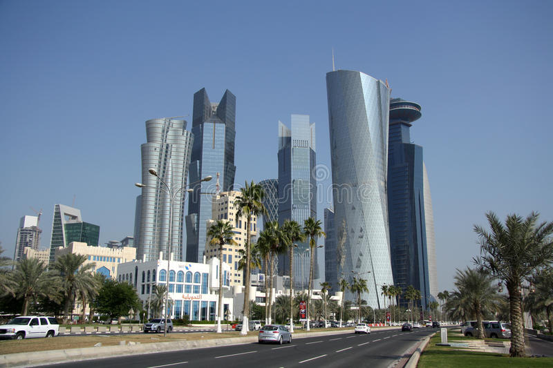 Doha Financial And Administrative District Editorial Image