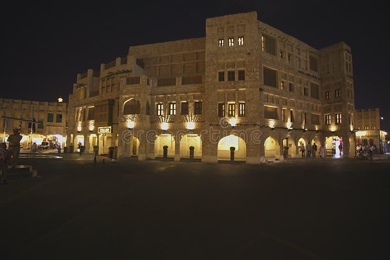 Doha gammal citly saluhall royaltyfria foton