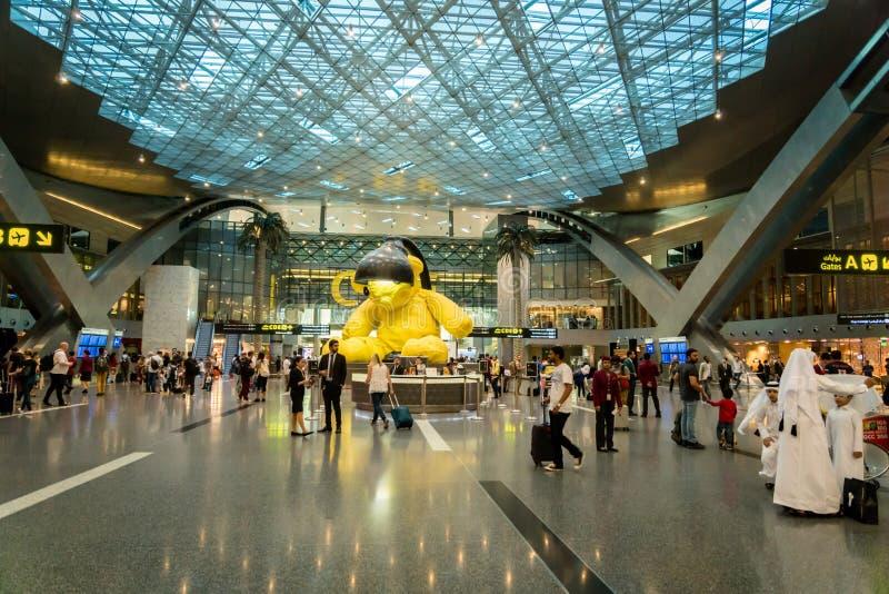 Doha Hamad International Airport, Qatar stock foto