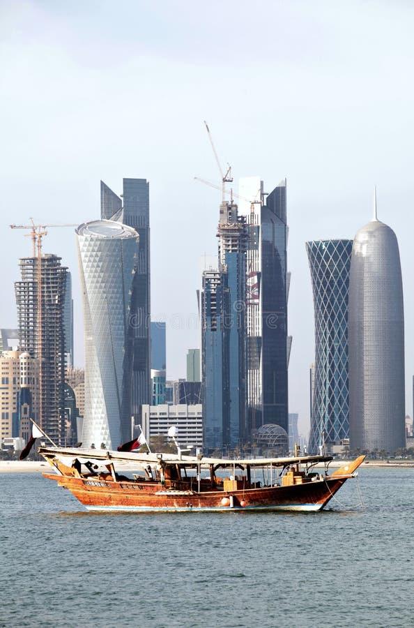 Doha horisont 2012 arkivfoto