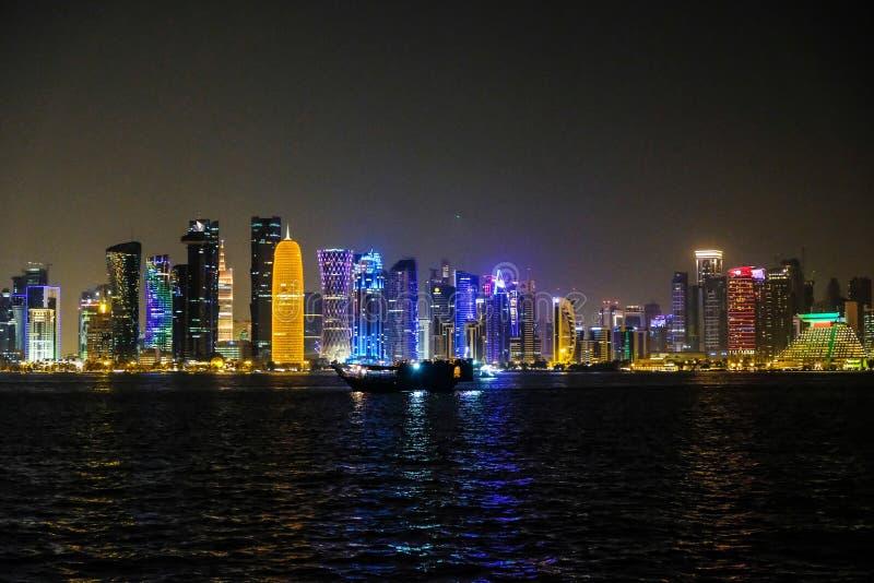 Doha linia horyzontu zdjęcia stock