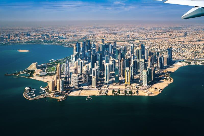 Doha miasta widok obrazy stock