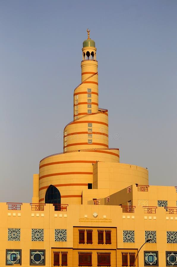 Doha minaret royaltyfria bilder
