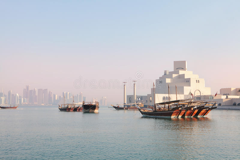 Download Doha morning stock image. Image of skyscraper, skyline - 26934769