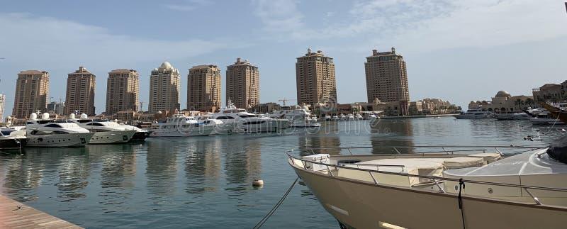Doha pärlan, Qatar royaltyfria bilder