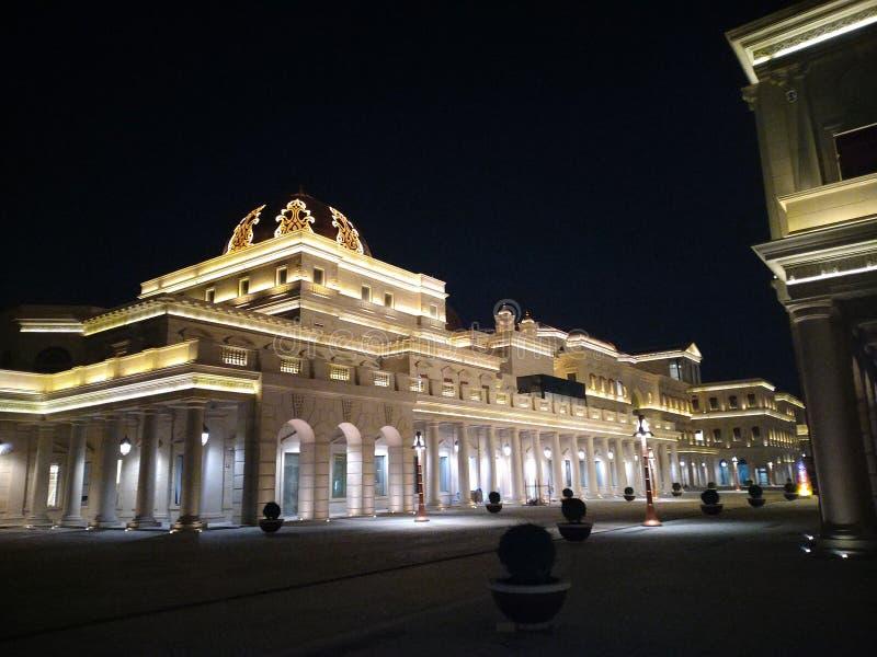 Doha. Palace at doha stock photography