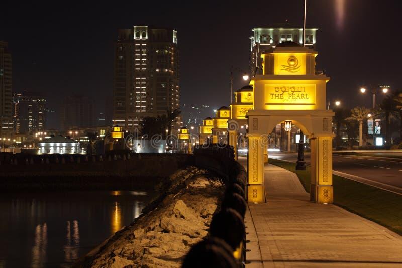 doha perełkowy Qatar obraz stock