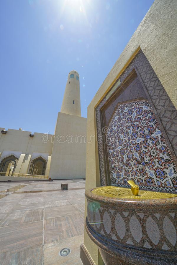 The Grand Mosque Doha stock image