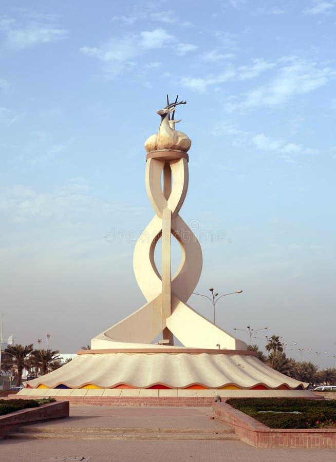 Doha Qatar Oryx monument stock images