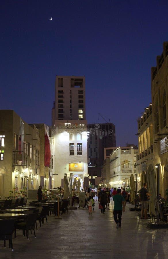 Doha souq royaltyfria bilder