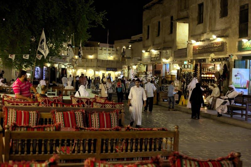 Doha souq arkivfoton