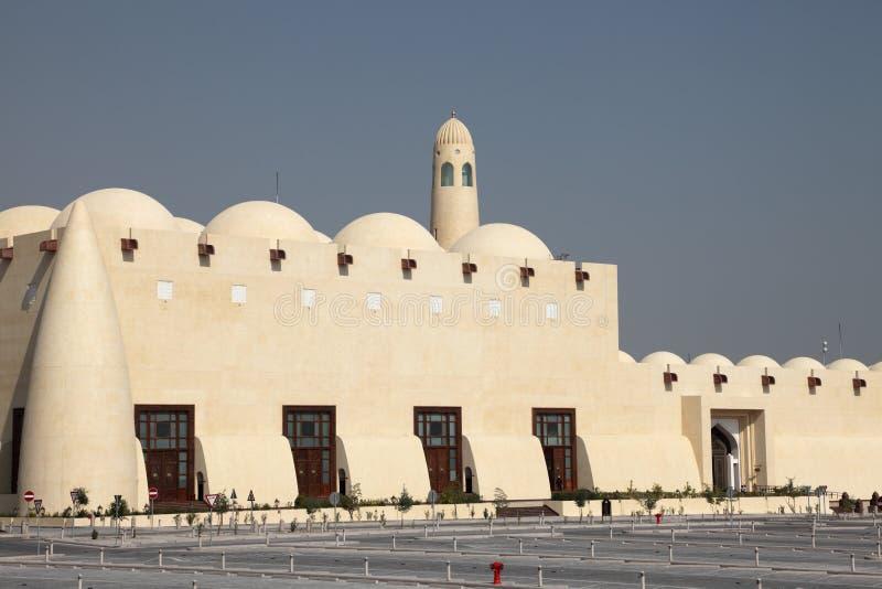 doha storslaget moskéqatar tillstånd arkivfoton