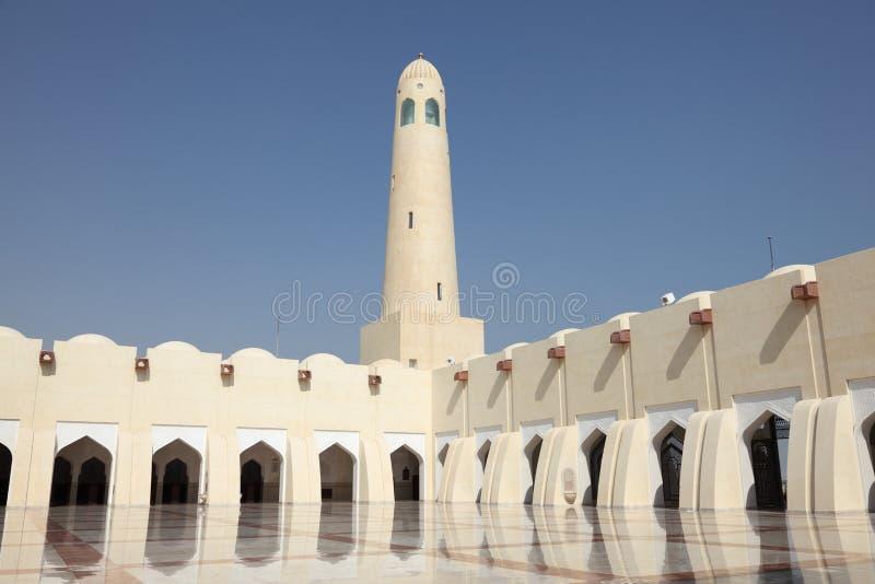 doha storslaget moskéqatar tillstånd arkivbilder