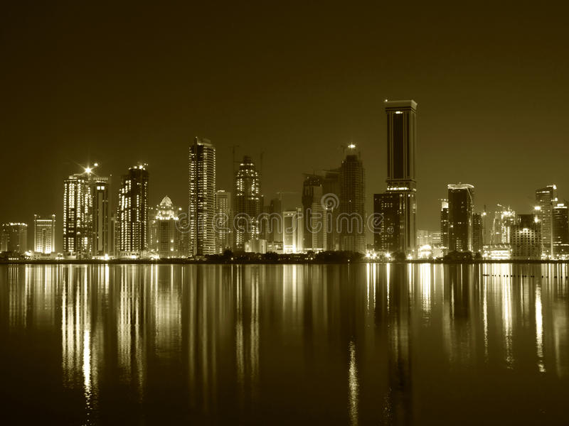 Doha West Bay royalty free stock photo