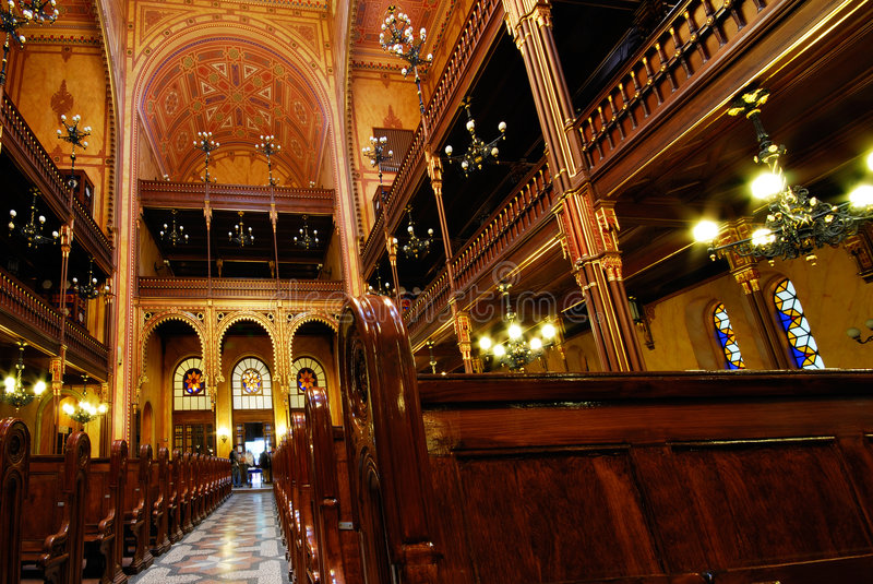 Dohany Street Synagogue, Budapest, Hungary. Dohany Street Great Synagogue, Budapest, Hungary - the largest synagogue in Europe stock image